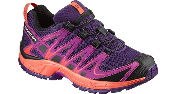 Salomon XA Pro 3D Shoes Juniors cosmic purple/deep dalhia/coral punch